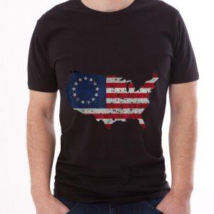 Premium Betsy Ross Flag Apparel USA Shape Revolutionary War shirt 2