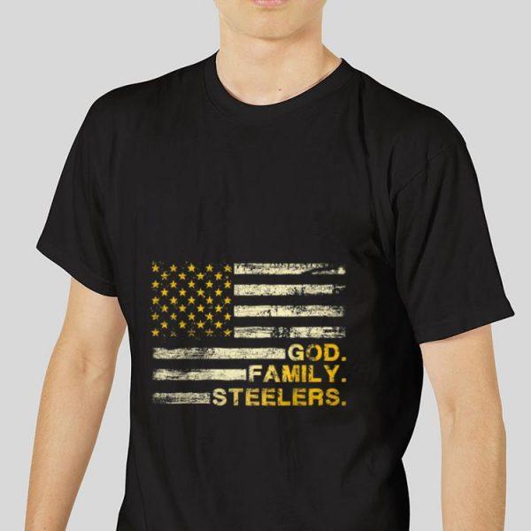 Premium God Family Steelers Pro American Flag shirt