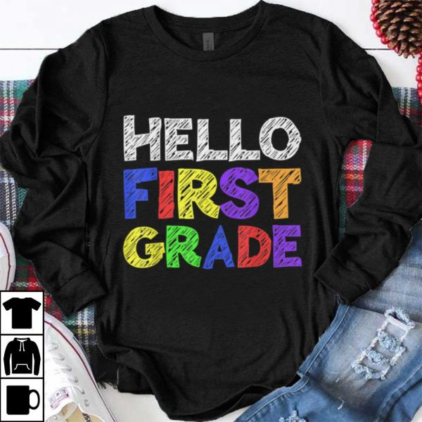 Premium Hello 1st Grade Back To School shirt