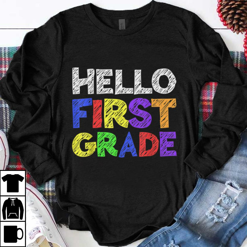 Premium Hello 1st Grade Back To School shirt 1 - Premium Hello 1st Grade Back To School shirt