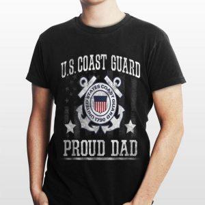 Proud Dad Us Coast Guard Uscg shirt