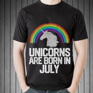 Rainbow Unicorns Are Born In July sweater