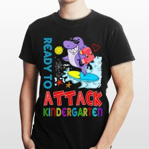 Ready To Attack kindergarten Shark Back To School shirt
