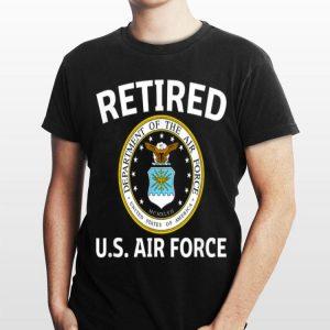 Retired Us Air Force Veteran Retirement Tee shirt