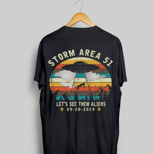 Storm Area 51 Let's See Them AliensVintage Alien Abduction shirt