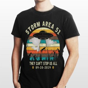 Storm Area 51They Can't Stop Us AllVintage Alien Abduction shirt