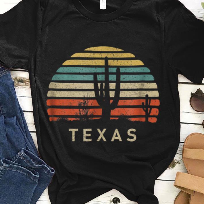 Texas Desert Cactus Vintage guy tee 1 - Texas Desert Cactus Vintage guy tee