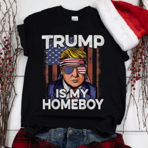 The Best Donald Trump Is My Homeboy Glasses Headband Usa Flag 4th Of July shirt