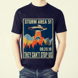 The Best Storm Area 51 They Can't Stop Us UFO shirt