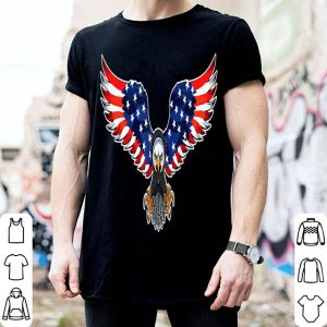 The Power Of Eagle American Usa Flag 4Th Of July shirt