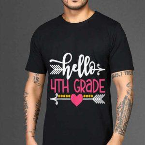 The best trend Hello 4th Grade Teacher Kids Back to School shirt