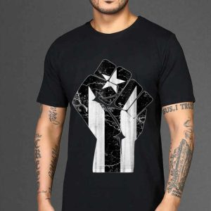 The best trend The Raised Fist Puerto Rico Resiste Black Flag shirt 1