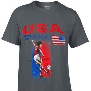 Usa Women Soccer France 2019 American Flag Rabona Skill hoodie
