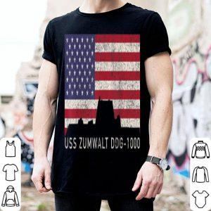 Uss Zumwalt Ddg1000 Navy Ship Usa Flag shirt