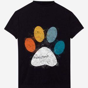 Vintage Puppy Dog Paw Print hoodie
