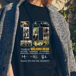 10 Years Of The Walking Dead Thank You For The Memories Signature sweater