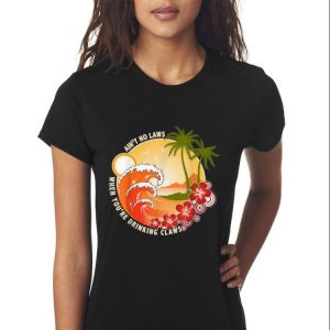 Ain't No Laws When You're Drinking Claws Summer Wave Beach Hawaii sweater 2