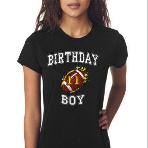Awesome 11th Birthday Boy USA Football shirt 2