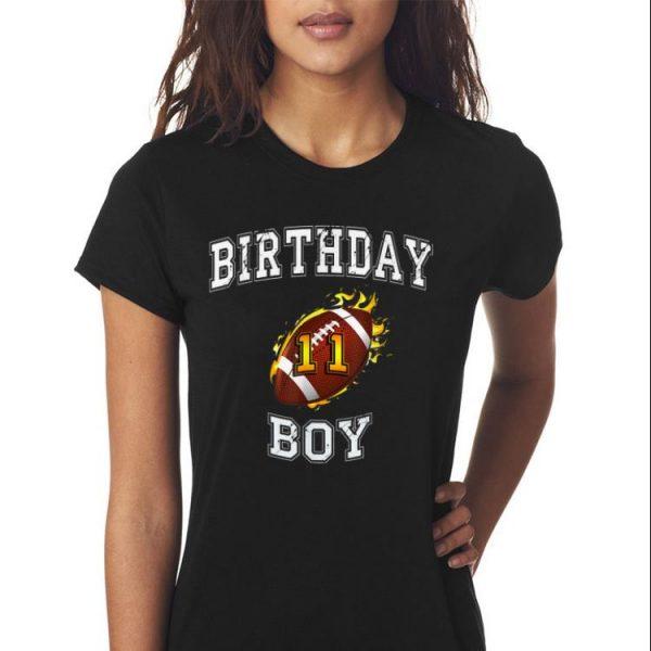 Awesome 11th Birthday Boy USA Football shirt