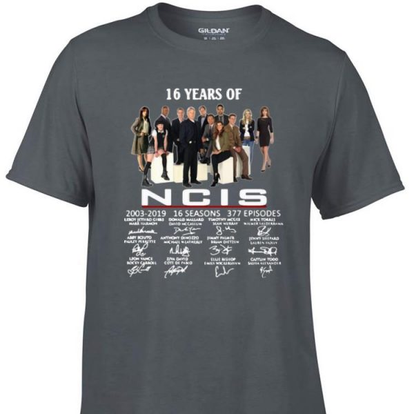 Awesome 16 Years Of NCIS 2003-2019 Signatures shirt