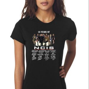 Awesome 16 Years Of NCIS 2003-2019 Signatures shirt 2