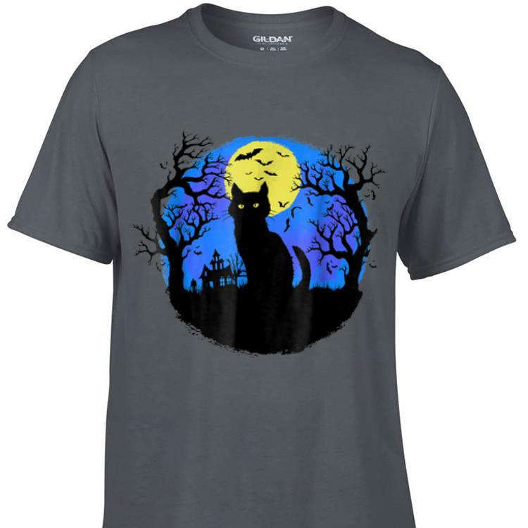 Awesome Black Cat at Night Halloween shirt 1 - Awesome Black Cat at Night Halloween shirt