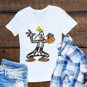 Awesome Disney Goofy Skeleton Halloween shirt