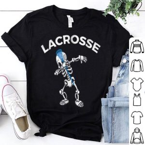 Awesome Halloween Dabbing Skeleton Lacrosse Dab Dance Gift shirt