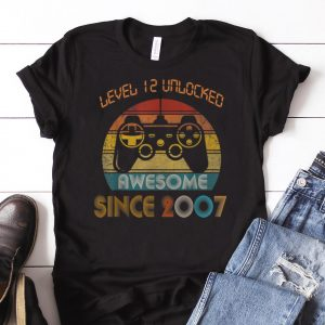 Awesome Level 12 Unlocked Awesome Since 2007 Vintage shirt