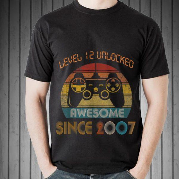 Awesome Level 12 Unlocked Awesome Since 2007 Vintage shirt
