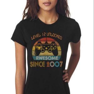 Awesome Level 12 Unlocked Awesome Since 2007 Vintage shirt 2