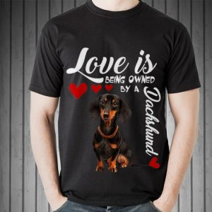 Awesome Love Is Being Owned By A Dachshund shirt