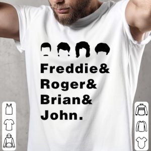 Awesome Queen Freddie Roger Brian And John shirt