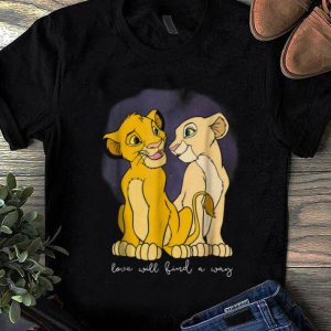 Awesome Trend Disney Lion King Simba Nala Love Love Will Find A Way shirt