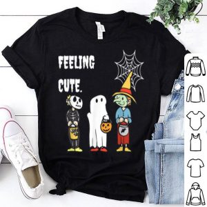 Beautiful Feeling Cute Halloween Featuring A Pumpkin And Ghost shirt
