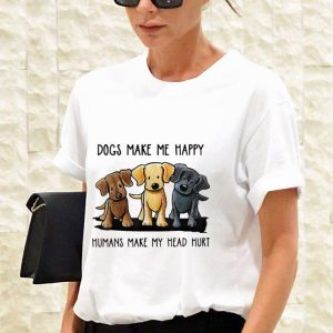 Chocolate Lab Dog Make Me Happy Humans Make My Head Hurt sweater 2