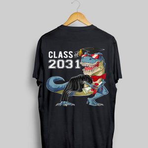 Class of 2031 Dinosaur Grow with me First day of shool shirt