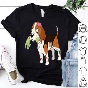 Funny Beagle Zombie Hand Funny Dog Halloween Gift shirt