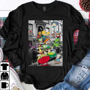 Funny Nickelodeon Classic Nicktoons Hanging On Stoop shirt
