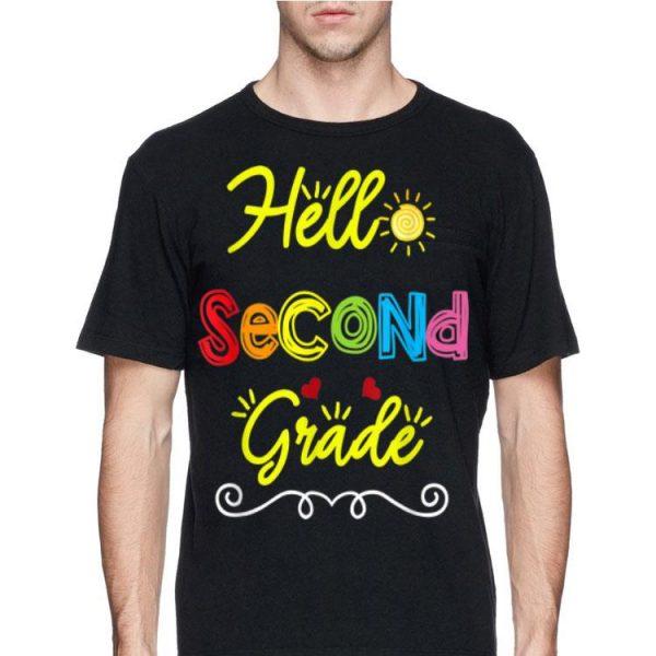 Hello Second Grade Back to School Teacher Student shirt