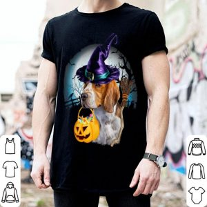 Hot Beagle Witch Hat Dog Halloween Costume Gift Funny Dog Lovers shirt