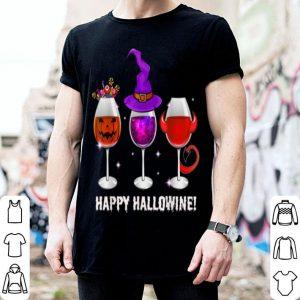 Hot Happy Hallowine Funny Wine Halloween Costume shirt