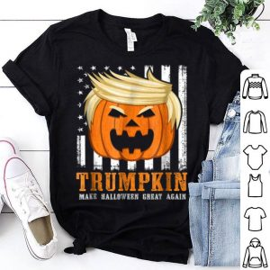 Hot Usa Trumpkin Make Halloween Great Again Funny shirt