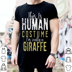Official Giraffe Funny Halloween Party Costume Gift shirt