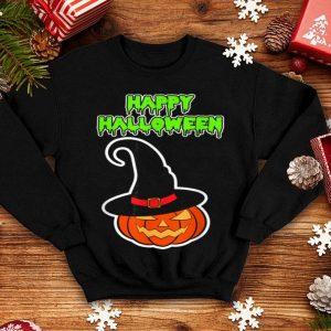 Official Scary Happy Halloween Pumpkin Witch Hat Women Men Kids shirt