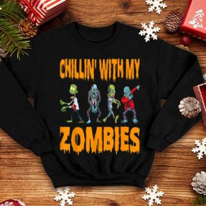 Original Cool Chillin With My Zombies Halloween Costume Gifts shirt