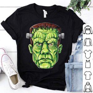 Original Frankenstein Face Funny Halloween Gifts Men Monster Zombie shirt