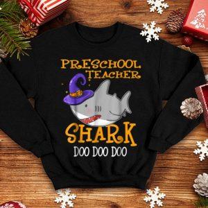 Original Preschool Teacher Shark Doo Doo Doo Halloween shirt