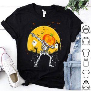 Premium Dabbing Pumpkin Skeleton Halloween Gifts Women shirt