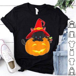 Premium Happy Halloween Spooky Pumpkins Halloween Cat shirt